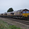 66067 + 66039 + 66013 + 66155 0B05 Acton - Whitemoor Yd passes Silt Rd LC