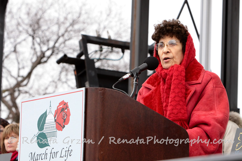 Nellie Gray, President of the annual March for Life.