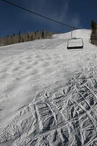 Contrasting ski slope