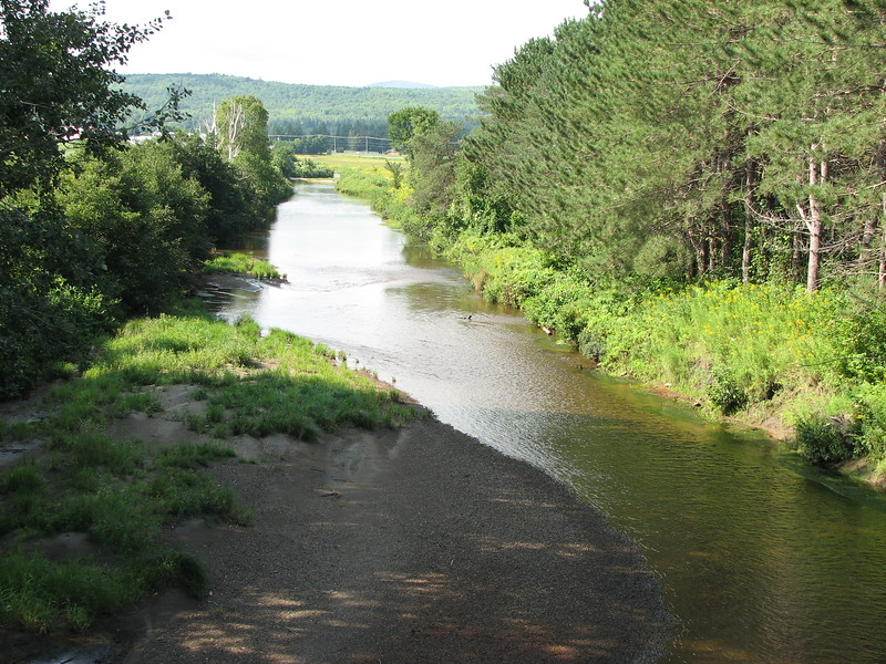 View upstream from the second crossing