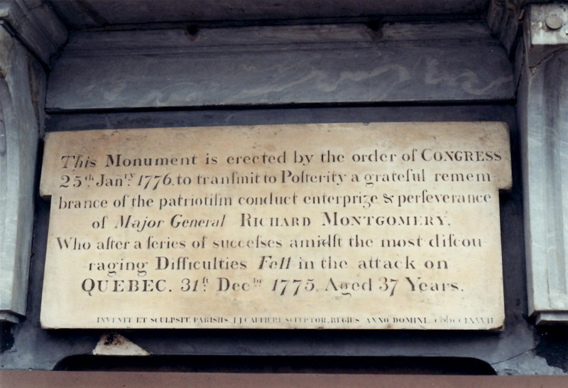 Wording on the monument