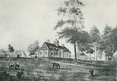 "The original Holland House (now gone) on Ste. Foye Road, Quebec. This old print is as seen on the website:  <a href=""http://www.diederikvanvleuten.nl/Teksten/page12/page12.php"">http://www.diederikvanvleuten.nl/Teksten/page12/page12.php</a>   The cupola was a later addition."