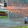 Interpretive panel mentioning Benedict Arnold's Expedition located inside the tower
