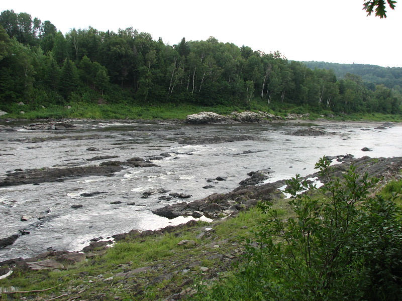 Another view from the walking path along the river, looking downstream
