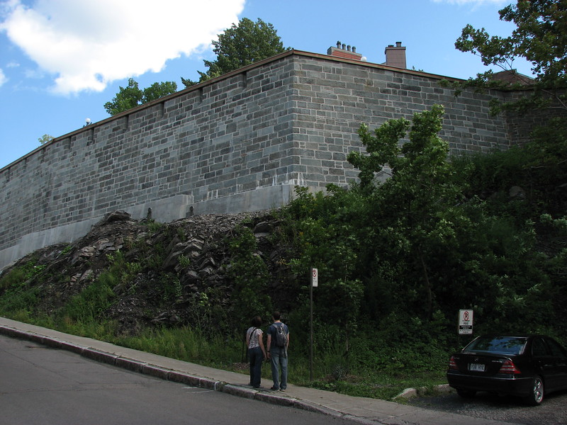 View of the Ramparts from the site of Arnold's wounding