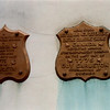 The plaques as they looked in the 1990s