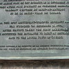 Close up of the English portion of the plaque