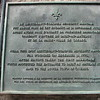 The plaque, incorrectly identifying Arnold as a Lieutenant Colonel