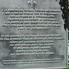"""Close up of the marker. Montgomery's body was brought here the day after his death and """"encoffined"""" prior to his first burial, in Quebec City."""
