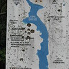 Sign at the Lake Megantic boat launch in Frontenac. Note the green area at the bottom, which denotes the swamps Arnold's men struggled through.