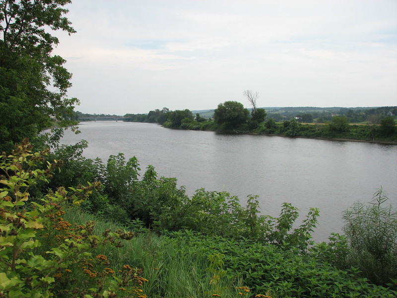 View of the Chaudiere River directly across the street from the manor