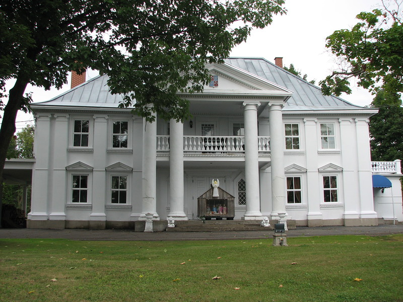 Front view of the manor
