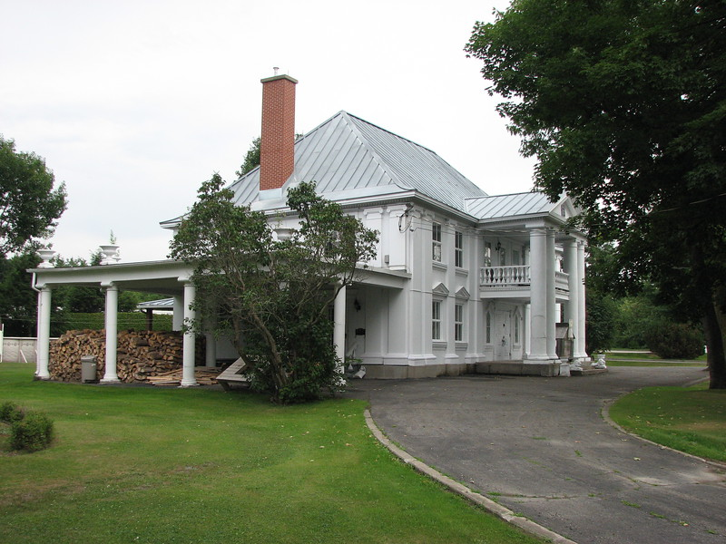Left side of the manor