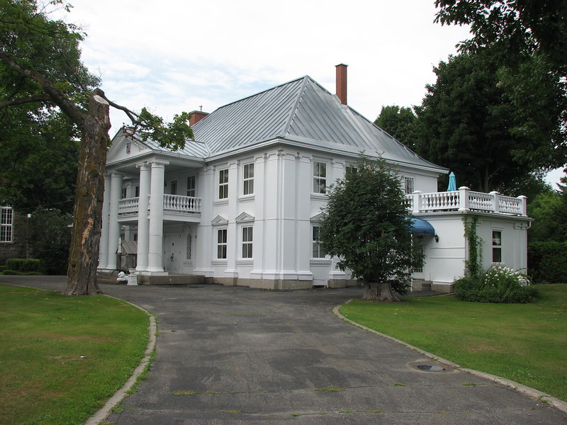 Right side of the manor