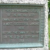 English portion of the plaque