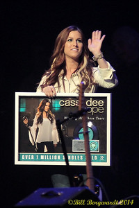 "Cassadee Pope received a Million Seller award for her single ""Wasting All Those Tears"" - Grand Ole Opry"