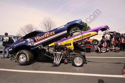 March Meet Nitro Funny Cars  Blue Max_Poverty Stricken