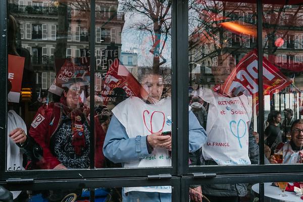 Marche pour la VIe République, campagne de Jean-Luc Mélenchon pour la présidentielle à Paris, 18 mars 2017