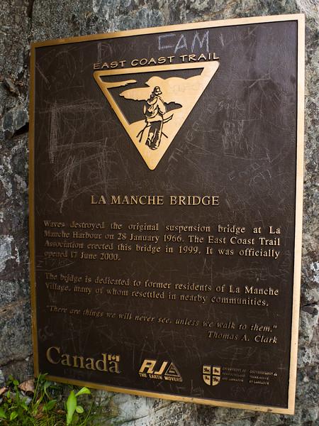 La Manche Bridge Plaque