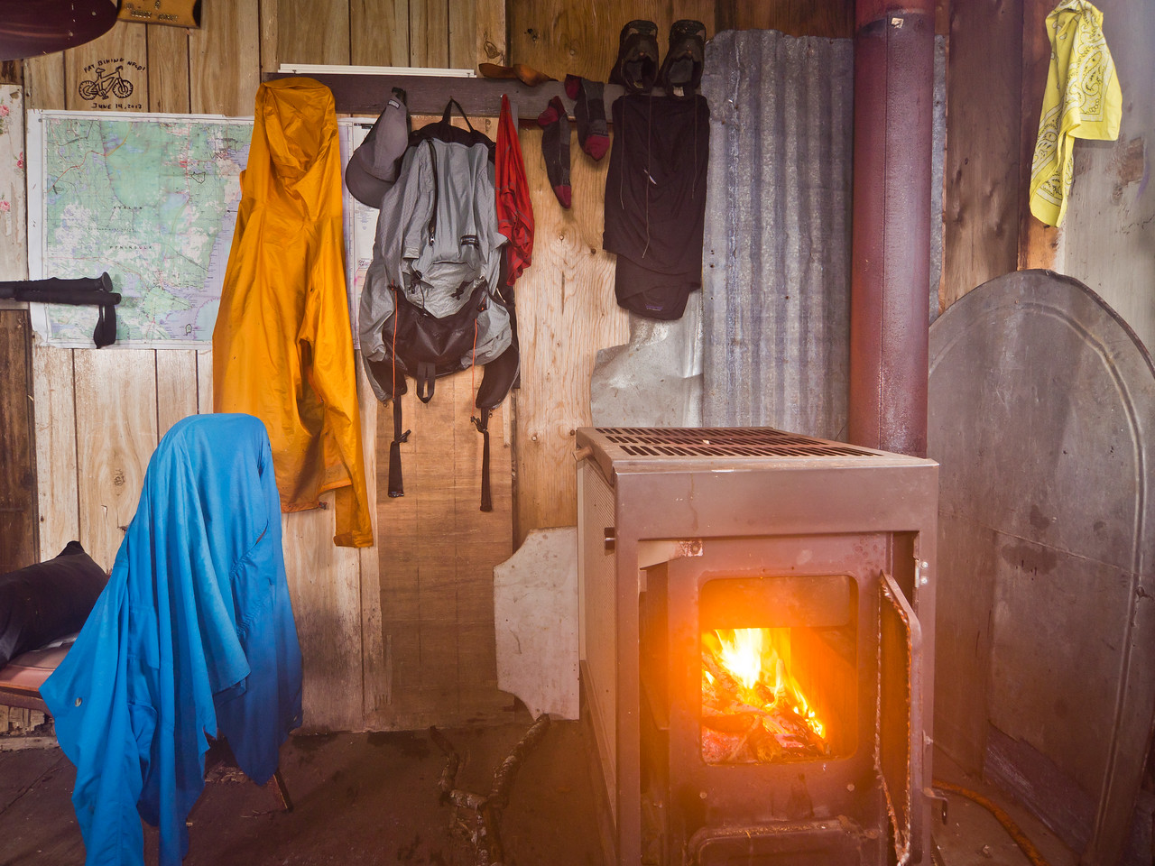 Drying clothes at Shoal Bay Inn
