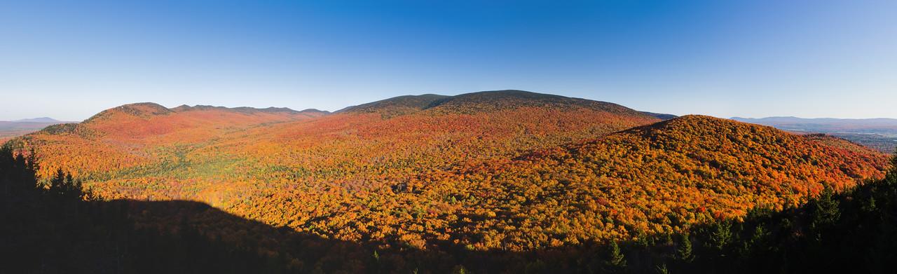Mont Mégantic en couleurs d'automne