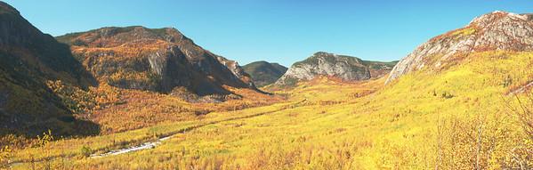 Sentier du mont du lac des Cygnes à l'automne - Parc national des Grands-Jardins