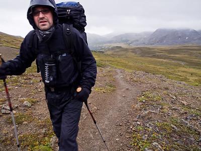 Hiker on Skyline Trail - Jasper National Park