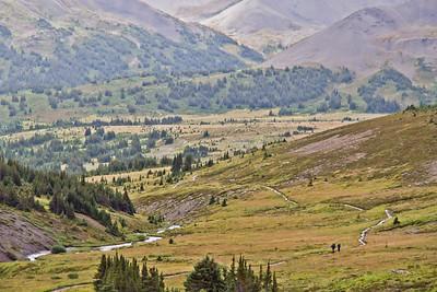Hikers on Skyline Trail - Jasper National Park