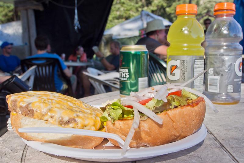 """Patrick's second burger at """"Chez Monique"""""""