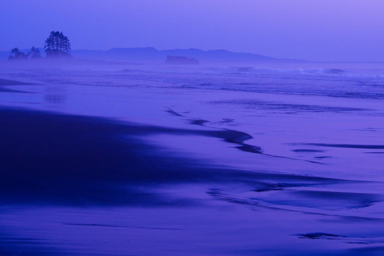 Beach at twilight - Cribbs Creek campsite