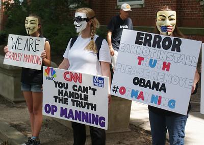 Support Bradley Manning protest D.C. '13 (3)