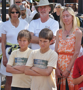 Anti-fracking rally at the Boulder County (Co) Courthouse (6/18/13). Boulder County Commissioners  voted that evening to extend the moratorium on fracking by 18 months.