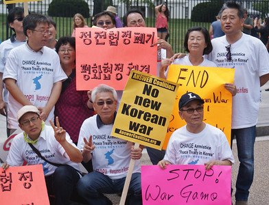 Korean War peace treaty protest D.C. '13 (12)