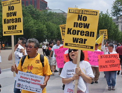 Korean War peace treaty protest D.C. '13 (9)