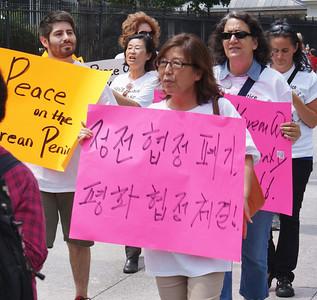Korean War peace treaty protest D.C. '13 (2)