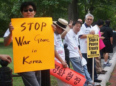 Korean War peace treaty protest D.C. '13 (5)