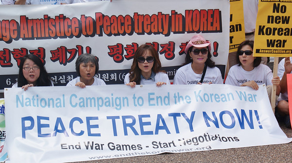 Korean War peace treaty protest D.C. '13 (13)