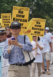 Korean War peace treaty protest D.C. '13 (1)