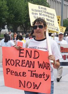 Korean War peace treaty protest D.C. '13 (4)