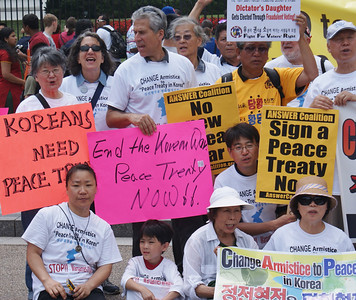 Korean War peace treaty protest D.C. '13 (11)