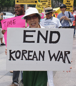 Korean War peace treaty protest D.C. '13 (8)