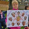 Presidents Trump's advisors were the target of this woman's sign at the March Foe Science in Denver, Co.Denver,