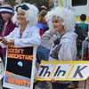 This mother and daughter donned Albert Einstein wigs and lab coats for the Denver March For Science.