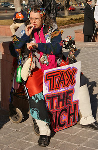 Tax the rich protester (1)