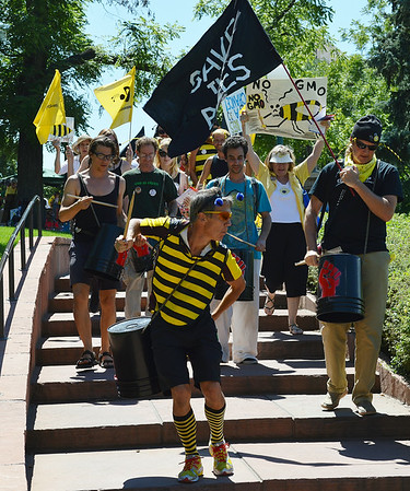 """Save The Bees"" Protest-Denver-8/16/14"