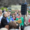 Local Christians protest HHS mandate and other federal decisions during a rally for religious freedom outside the Federal Building in Rochester. Father Tony Mugavero and Jann Armantrout spoke during the rally.