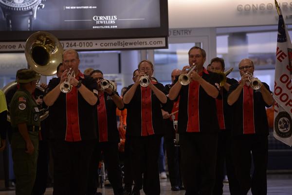 2014 Honor Flight welcoming