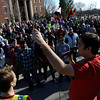 Fight for $15 minimum wage rally and march at the University of Rochester.