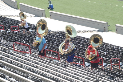 UC Marching Band, Band Camp, Nippert Stadium, Cincinnati, OH