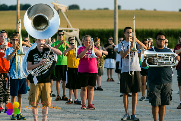 NCHS Marching Ironmen rehearsal on August 14, 2014